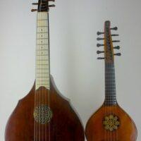 English guitar by Michael Rauche, London, small size model - 1772