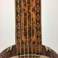 Rare fretless banjo, 7 strings, attribued to W Davis, London - c. 1860