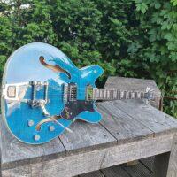 HAGSTROM E-Gitarre, Tremar Viking Deluxe, Cloudy Seas