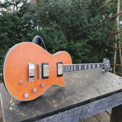 HAGSTROM E-Gitarre, Ultra Max, Milky Mandarin Satin