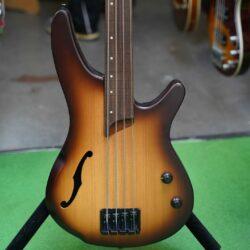 Ibanez Bass Workshop SRH500F-NNF, Aerium 4-saiter Hollow Fretless-Bass, Natural Browned Burst Flat