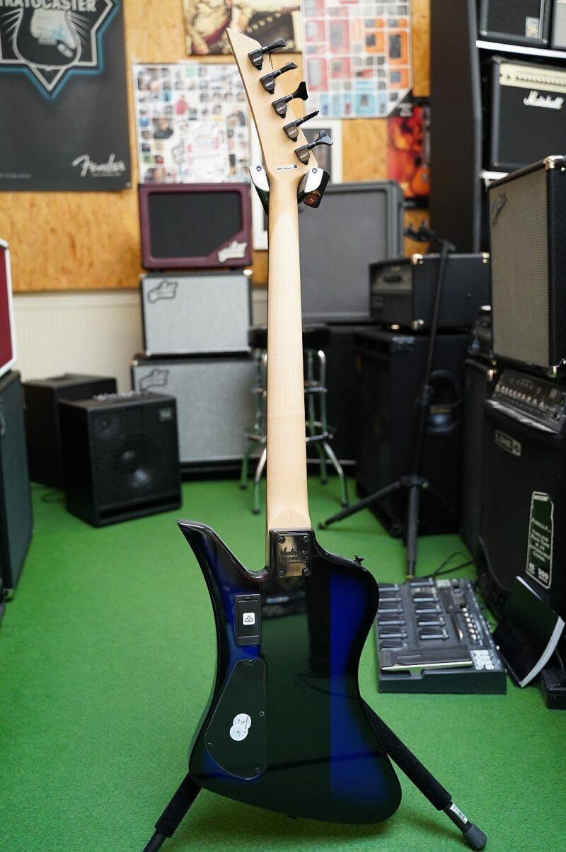 Jackson® Dave Ellefson KELLY BIRD V BS Bass, Blue wt. Black Centerstripe
