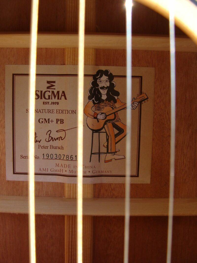Sigma GM+ PB Peter Bursch Signature