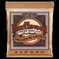 Ernie Ball 2146 Earthwood Phosphor Bronze Medium Light 12-54 Set of strings