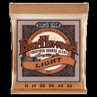 Ernie Ball 2148 Earthwood Phosphor Bronze Light 11-52 Set of strings