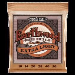 Ernie Ball 2150 Earthwood Phosphor Bronze Extra Light 10-50 Set of strings
