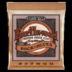 Ernie Ball 2151 Earthwood Phosphor Bronze Rock & Blues 10-52 Set of strings