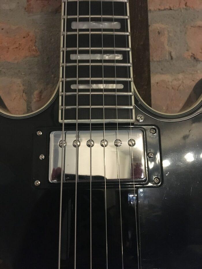 Hagstrom Alvar Black Gloss Semi-Hollow Electric Guitar