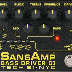 Tech 21 Sansamp Bass Driver DI V2 Preamp Effecpedal
