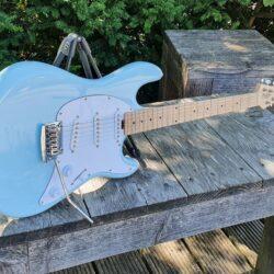 STERLING E-Gitarre, S.U.B., Cutlass SSS, Daphne Blue