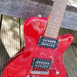 HAGSTROM E-Gitarre, Ultra Swede ESN, Wild Cherry Transparent
