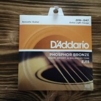 D'Addario EJ15, Acoustic Guitar Strings, .010 - .047 Extra Light Gauge, Phosphor Bronze
