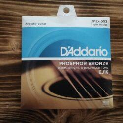 D'Addario EJ16 Acoustic Guitar Strings, .012 - .053