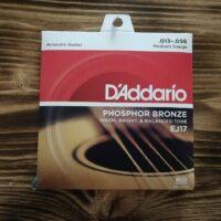 D'Addario EJ17, Acoustic Guitar Strings, .013 - .056 Medium Gauge, Phosphor Bronze