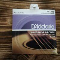 D'Addario EJ26, Acoustic Guitar Strings, .011 - . 052, Phosphor Bronze