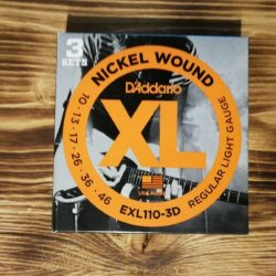 D'Addario EXL110-3D, Nickel Wound Electric Guitar Strings 10-46, 3Sets