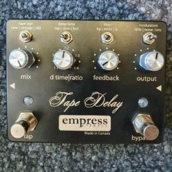 empress effects Tape Delay Matt/Schwarz