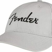 Fender Embroidered Logo Dad Hat, Silver
