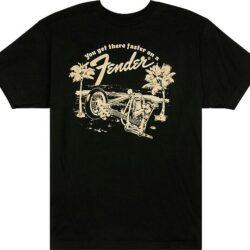Fender Get There Faster T-Shirt Bk