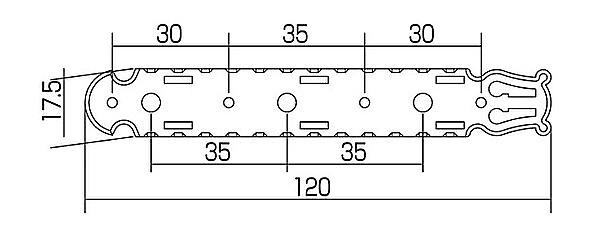 Gotoh 35G-1600 concert guitar tuners 3L3R gold