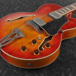 Ibanez AFV75-VAL Artcore Vintage Hollowbody 6 String Debut Vintage Amber Burst Low Gloss