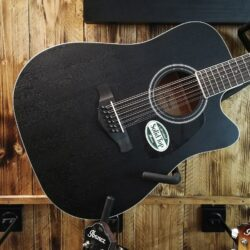 Ibanez AW8412CE-WK Artwood Acoustic Guitar 12 String Weathered Black