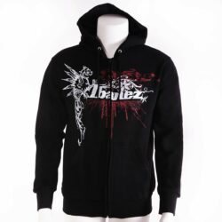 "Ibanez IH11-M Merchandise Hooded Sweater black ""Griffin"" size M with white/ red logo"