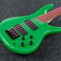 Ibanez K5LTD-FGM Fieldy/Korn Signature E-Bass 5 String Flourescent Green Matte, PRE-ORDER!