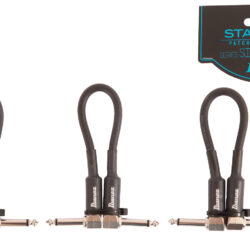 Ibanez SI05P3 Guitar Instrument Cable - 2 Right Angle plugs 3pcs set Patch Cable Male - Male, Black - 0,15
