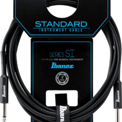 Ibanez SI10 Guitar Instrument Cable - SI Series (Standard) - 2 Straight Plugs Male - Male, Black - 3,05 m /