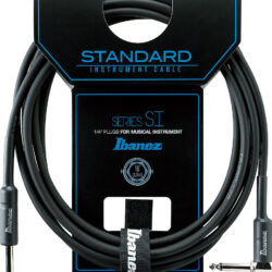 Ibanez SI10L Guitar Instrument Cable- Straight & Right Angle plugs Male - Male, Black - 3,05 m / 10 ft