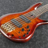 Ibanez SR2405W-BTL Premium E-Bass 5 String Brown Topaz Burst Low Gloss + Bag