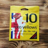 Rotosound R10, Roto Yellows Regular E-Guitar Strings, 10-46