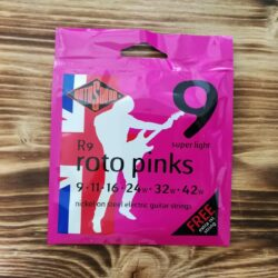 Rotosound R9, Roto Pinks Super Light, 9-42, Electric Guitar Strings