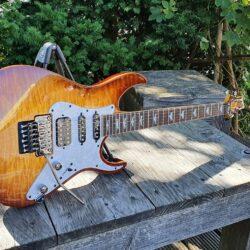 SCHECTER E-Gitarre, Banshee 6 FR Extreme, Vintage Sunburst