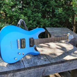 SCHECTER E-Gitarre, C-6 Deluxe, Satin Metallic Light Blue