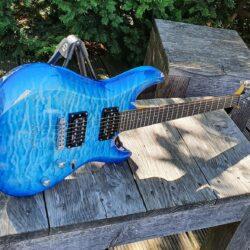 SCHECTER E-Gitarre, C-6 Plus, Ocean Blue Burst