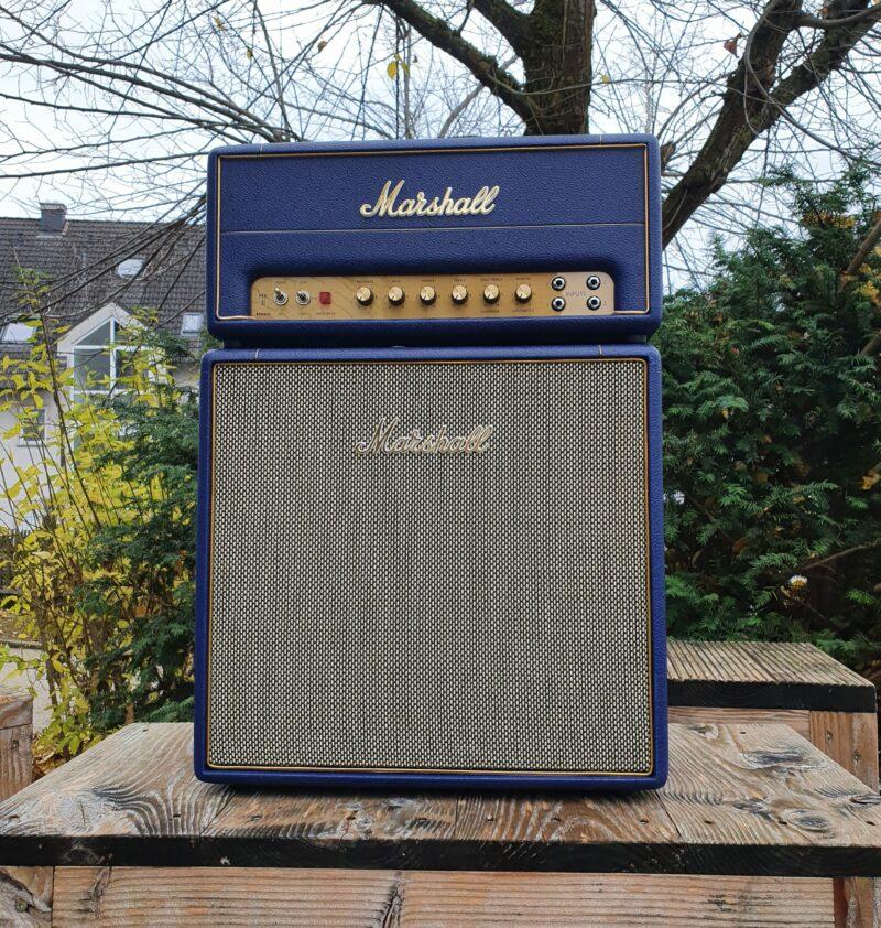 MARSHALL E Gitarrentopteil Studio Vintage Serie Halfstack mit SV 1×12 Box Navy Levant NAMM20 Special Limited Edition 1