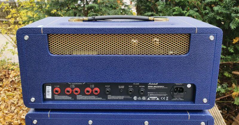 MARSHALL E Gitarrentopteil Studio Vintage Serie Halfstack mit SV 1×12 Box Navy Levant NAMM20 Special Limited Edition 11