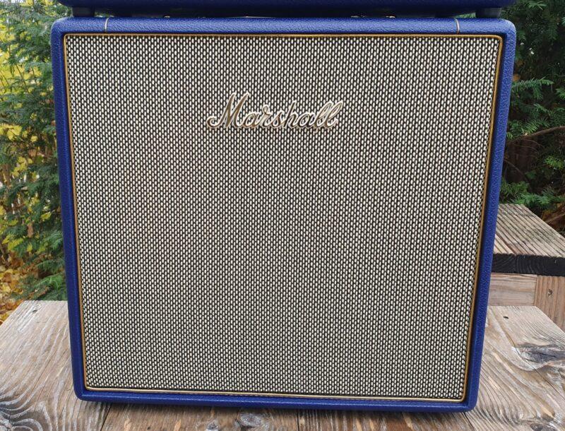 MARSHALL E Gitarrentopteil Studio Vintage Serie Halfstack mit SV 1×12 Box Navy Levant NAMM20 Special Limited Edition 3