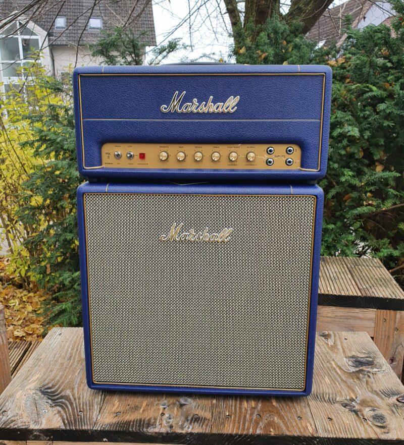 MARSHALL E Gitarrentopteil Studio Vintage Serie Halfstack mit SV 1×12 Box Navy Levant NAMM20 Special Limited Edition 4