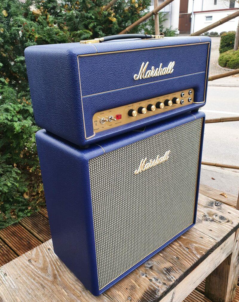 MARSHALL E Gitarrentopteil Studio Vintage Serie Halfstack mit SV 1×12 Box Navy Levant NAMM20 Special Limited Edition 5
