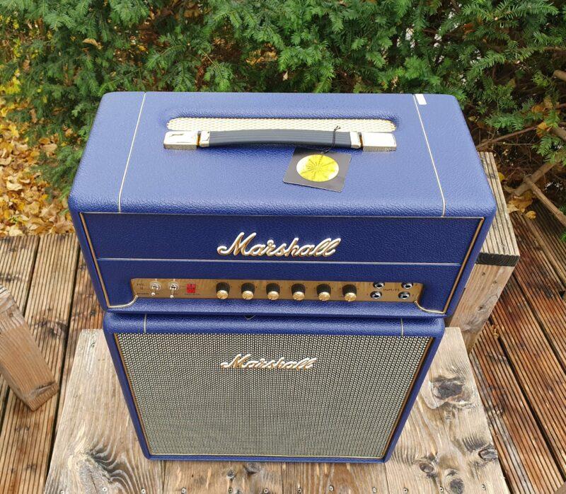 MARSHALL E Gitarrentopteil Studio Vintage Serie Halfstack mit SV 1×12 Box Navy Levant NAMM20 Special Limited Edition 6