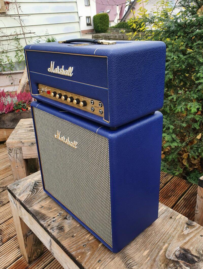 MARSHALL E Gitarrentopteil Studio Vintage Serie Halfstack mit SV 1×12 Box Navy Levant NAMM20 Special Limited Edition 7