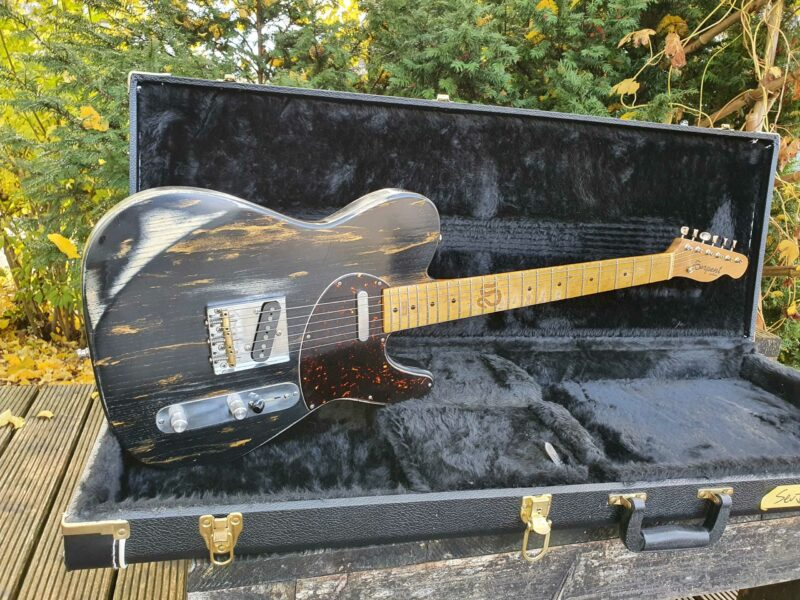 """serpent t style """" dirty gold"""" aged 10 ohguitar"""
