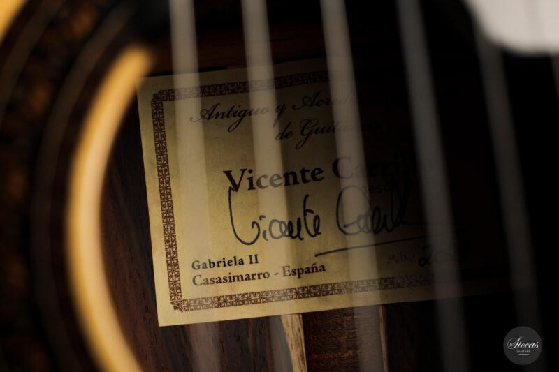 Classical guitar Vicente Carrillo Doubletop 2021 13