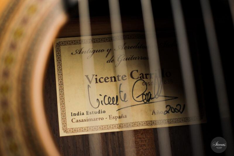 Classical guitar Vicente Carrillo Estudio Cedar 2021 22