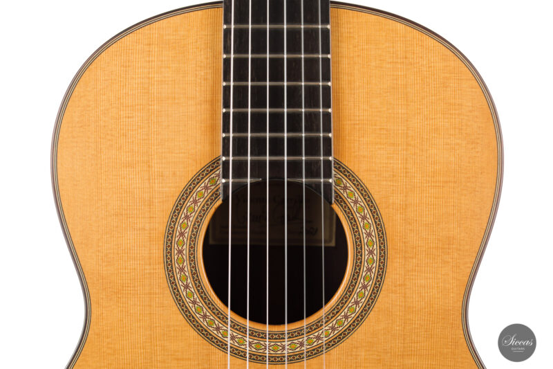 Classical guitar Vicente Carrillo Estudio Cedar 2021 3